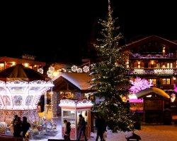 Ski Holiday, Courchevel, France, Downtown