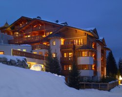 Ski Holiday, Courchevel, France, Local hotel front view