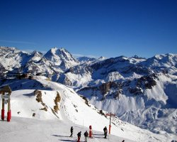 Ski Holiday, Courchevel, France, Top slope view