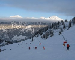 Ski Resorts, Bad Hofgastein, Austria, Slopes right under the clouds