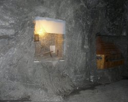 Slanic Moldova, Romania, Old tools in Salt Mine