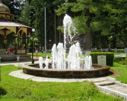 Slanic Moldova, Romania, Fountain