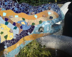 Barcelona, Spain, Lizard from Park Guell