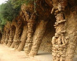 Barcelona, Spain, Park Guell detail
