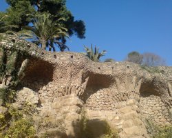 Barcelona, Spain, Park Guell architecture