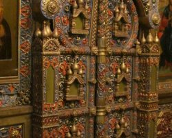 Saint Basil Cathedral, Moscow, Russia, Altar door