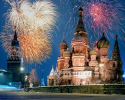 Saint Basil Cathedral, Moscow, Russia, At winter