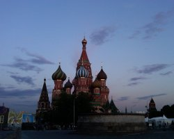 Saint Basil Cathedral, Moscow, Russia, At morning