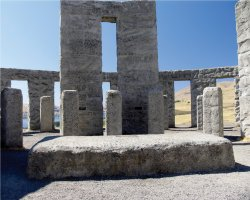 Stonehenge, Washington, Interior view