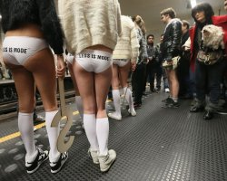 Strange Holiday, Worldwide, No Pants Day, Subway ride day