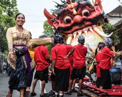 Strange Holiday, Bali, Indonesia, Nea Year cellebration