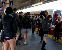 Strange Holiday, Worldwide, No Pants Day, Subway ride