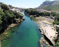 Stunning Places Holiday, Bosnia and Herzegovina, Mostar, View from the bridge