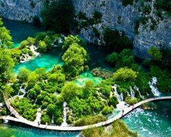 Stunning Places Holiday, Croatia, Plitvice Lakes, Aerial view