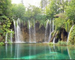 Stunning Places Holiday, Croatia, Plitvice Lakes, Waterfall overview