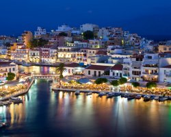 Sublime Perfect Holiday, Crete, Greece, City panorama at night