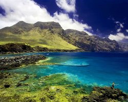Sublime Perfect Holiday, Tenerife, Spain, Crystal clear waters and mountains panorama