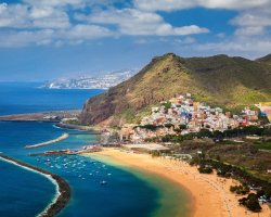 Sublime Perfect Holiday, Tenerife, Spain, Coastal city and beach overview
