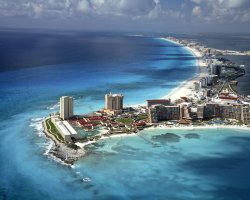 Superb Holiday, Cancun, Mexico, Peninsula aerial view