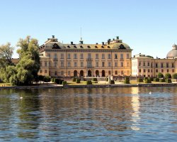 Sweden Holiday, Stockholm, Sweden, Drottningholm Palace overview from the water