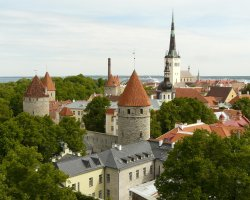 Tallinn, Estonia, Old Town Rooftops