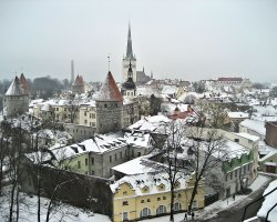 Tallinn, Estonia, Winter view of the city