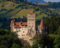 Halloween Holiday, Bran Castle, Brasov, Romania, Summer overview