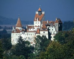 Halloween Holiday, Bran Castle, Brasov, Romania, Panoramic view