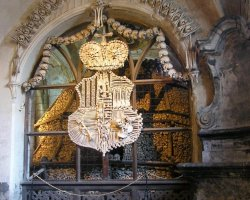 Halloween Holiday, Bone Church, Prague, Czech Republic, Heraldry of bones
