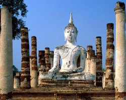 Thailand, Asia, Statue view