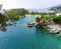 Beaches of Thassos, Tassos, Greece, Alyki Beach
