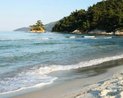 Beaches of Thassos, Tassos, Greece, Makryammos Beach 02