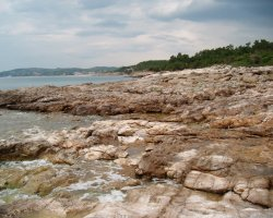 Beaches of Thassos, Tassos, Greece, Pefkari Beach 01