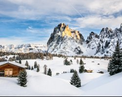 Best Ski Resort, Val Gardena, Italy, Calm day overview
