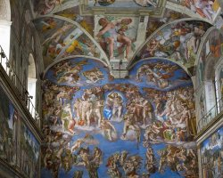 Vatican Museums, Vatican City, Italy, Sistine Chapel by Michelangelo