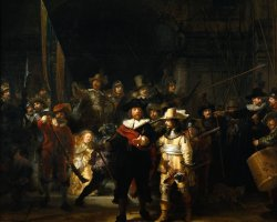 Rijksmuseum, Amsterdam, Netherlands, Night rounds by Rembrandt