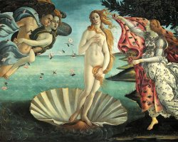 Uffizi Gallery, Florence, Italy, Birth of Venus by Botticelli