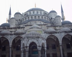 Topkapi Palace, Istanbul, Turkey, Castle with domes and towers