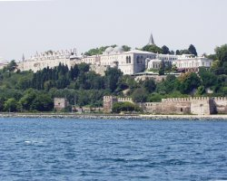 Topkapi Palace, Istanbul, Turkey, View from Bosphorus