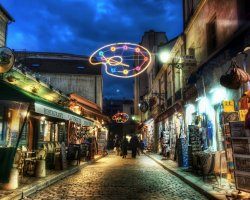 Touristic Attractions, Paris, France, Montmartre street view