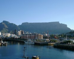 Touristic Attractions, Cape Town, South Africa, Table Mountain view from port