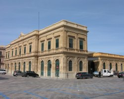 Trapani, Italy, City train station