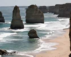 The Twelve Apostles , Australia, view with collapsed stack