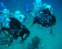 Underwater Tourism, Scuba divers learning