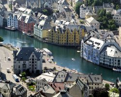 Unforgettable Holiday, Norway, Europe, Alesund city view
