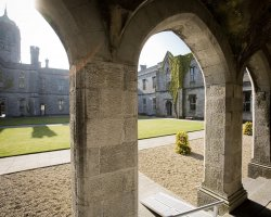 Galway, Ireland, Europe, University interior courtyard