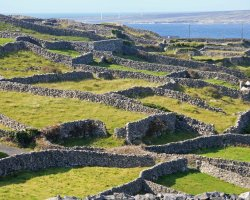 Galway, Ireland, Europe, Old ruins in Inis Oirr