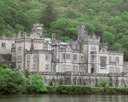 Galway, Ireland, Europe, Kylemore Abbey panorama