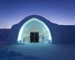 Ice Hotel, Sweden, Europe, Entrance