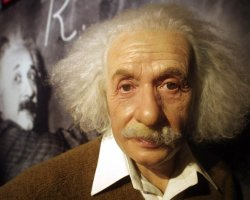 Characters for Vacation, Einstein Wax statue